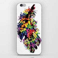 Colorful feather iPhone & iPod Skin