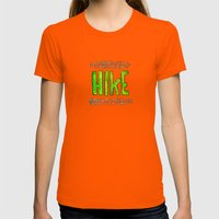 Hike Womens Fitted Tee Orange SMALL