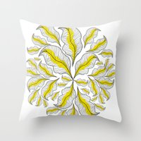 yellow---line Throw Pillow