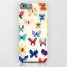 Butterfly watercolors iPhone 6 Slim Case