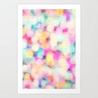 Drops Of Rainbow Art Print