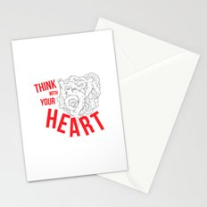 Think With Your Heart Stationery Cards