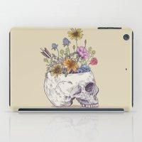 Half Skull Flowers iPad Case