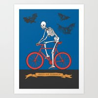 HELL ON WHEELS Art Print