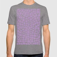 British Mosaic Orchid Mens Fitted Tee Tri-Grey SMALL