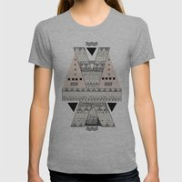 MONOTONE  GEOMETRIC ANIM… Womens Fitted Tee Athletic Grey SMALL