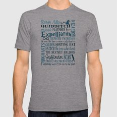 Harry Potter - All Quotes  Mens Fitted Tee Athletic Grey SMALL