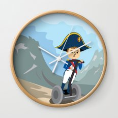 Napoleon Segways the Alps Wall Clock
