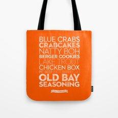 Baltimore — Delicious City Prints Tote Bag