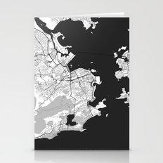 Rio de Janeiro City Map Gray Stationery Cards
