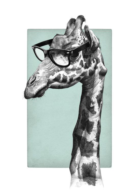 Short-Sighted Giraffe Art Print