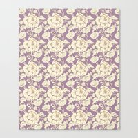 Rose Damask Orchid Canvas Print