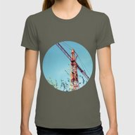 Crane Between Nature Womens Fitted Tee Lieutenant SMALL
