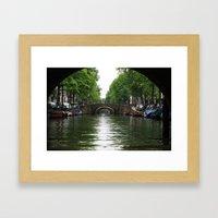 Amsterdam Canal Framed Art Print