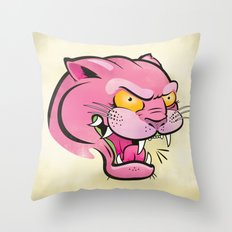 Pink Panther Tattoo Flash Throw Pillow
