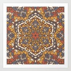 Vintage Mandala Flower D… Art Print