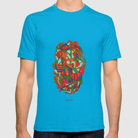 - Faces S - Mens Fitted Tee Teal SMALL
