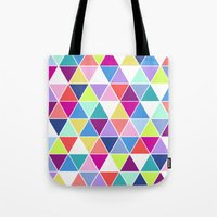 Multi Colour Triangle; Tote Bag