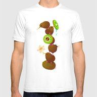 Kiwi Mens Fitted Tee White SMALL