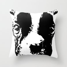 Curious French Bulldog Throw Pillow