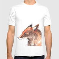 Angry Fox Mens Fitted Tee White SMALL