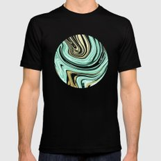 MARBELLOUS IN MINT AND GOLD Black Mens Fitted Tee SMALL