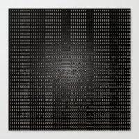 Black Dot Matrix Canvas Print