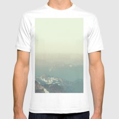 In the end, we conquer ourselves SMALL Mens Fitted Tee White