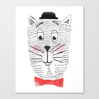 CAT IN A BOWTIE Canvas Print