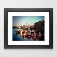 Boats Resting In The Har… Framed Art Print
