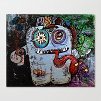 Pu$$y Monster Canvas Print