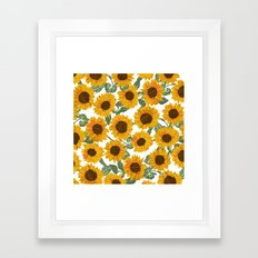 SUNNY DAYS -sunflowers- Framed Art Print