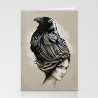 Raven Haired Stationery Cards