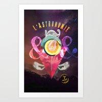 L´ASTRONOMIE Art Print