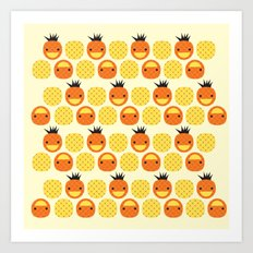 Dotty Pineapples II - Si… Art Print