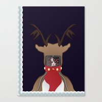 Christmas Card - I Can't Find Britain! Canvas Print