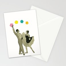 Throwing Shapes on the Dance Floor Stationery Cards