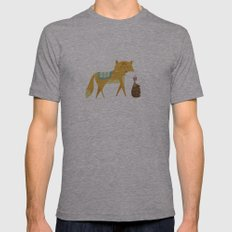 The Fox and the Hedgehog Mens Fitted Tee Athletic Grey SMALL
