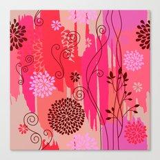 Boho Floral Pattern Var. 10 Canvas Print