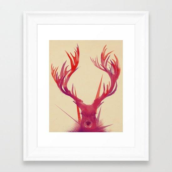 Points Framed Art Print