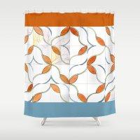Modern Tiles Shower Curtain