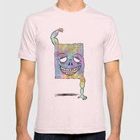 Super Dude Mens Fitted Tee Light Pink SMALL
