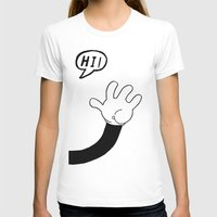 HI! Womens Fitted Tee White SMALL