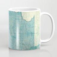 Illinois Map Blue Vintag… Mug