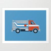 Optimus Van Art Print