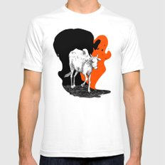 COW IS GOD White SMALL Mens Fitted Tee