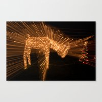Candy Cane Lane Oh Deer Canvas Print