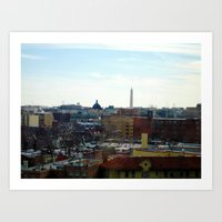 Washington DC Rooftops Art Print