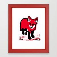 Red Fox Stamp Framed Art Print