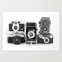 Vintage Camera Collectio… Art Print